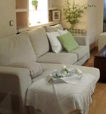 Detalle de Home Staging en cuarto de estar
