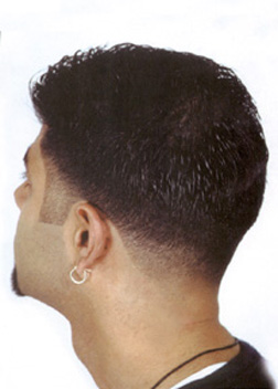 guys haircuts temple fade