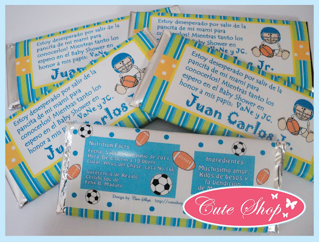 INGENIOSAS INVITACIONES CON BARRAS DE CHOCOLATE