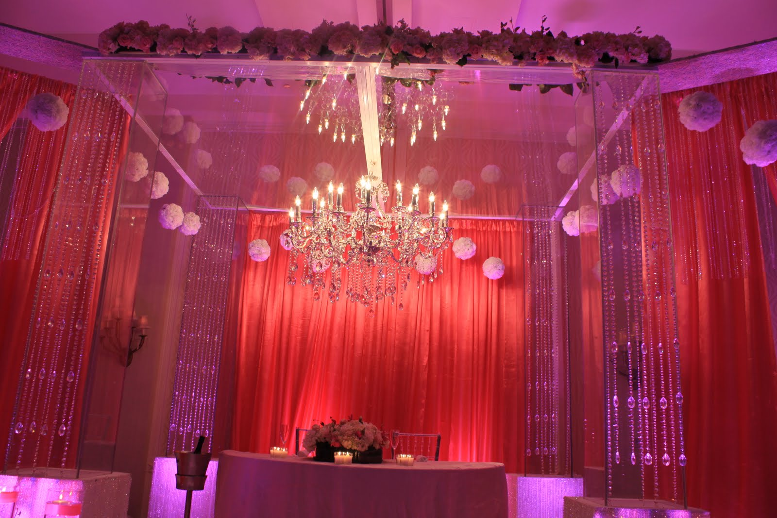 Indian wedding with our lucite Mandop,Crystal chandalier and ... for Indian Wedding Light Decoration  173lyp
