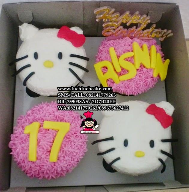 Cupcake Hello Kitty Buttercream Daerah Surabaya - Sidoarjo