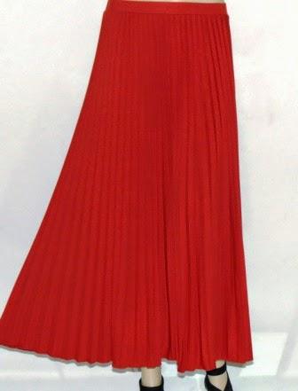 Rok Plisket Bahan Jersey Polos RM324