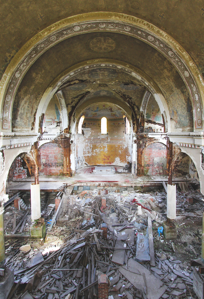 Cleveland, Abandoned, church, decay