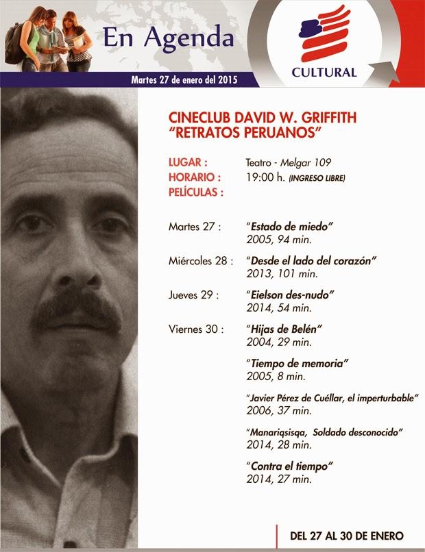AGENDA CULTURAL  SEMANA DEL 27 DE ENERO AL 01 DE FEBRERO