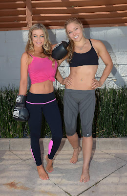 Carmen Electra Boxing Sparring Session with Ronda Rousey