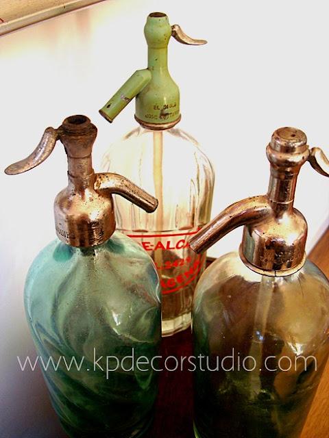 Comprar sifones antiguos, envases de vidrio soplado, botellas de cristal de gaseosa y soda
