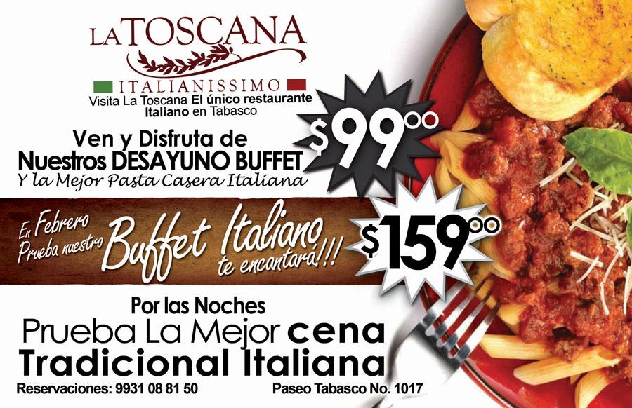 La toscana villahermosa buffet italiano directorio de for Casa de los azulejos villahermosa