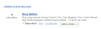 Google Reader Subscription