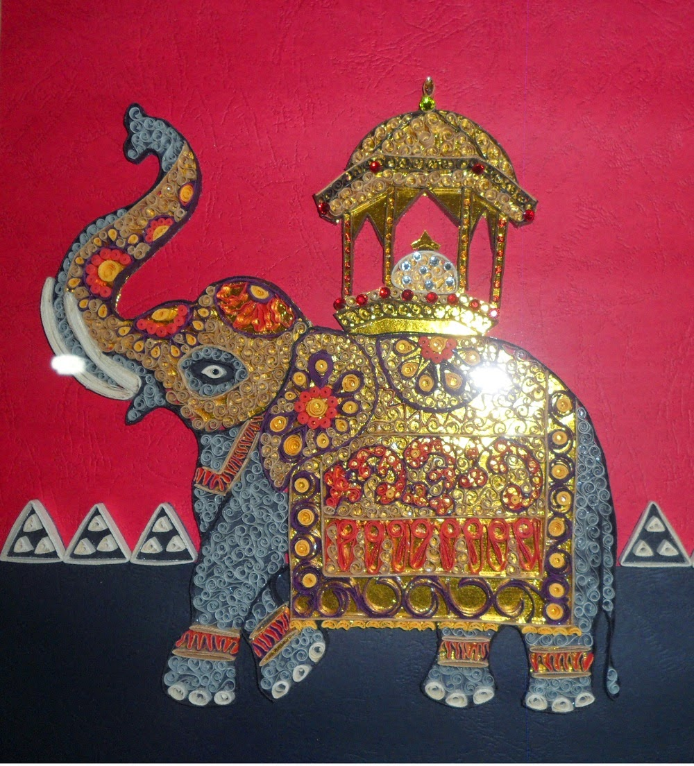 Greeting Cards And Wall Hangings The Tusker Carrying The Casket