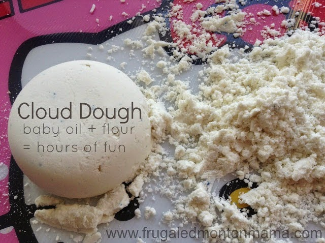 cloud dough, sensory activities for kids