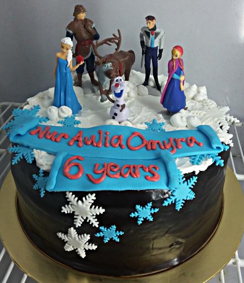 Frozen Birthday Cake  Muffin Kaseh Azean