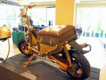 gambar motor unik dari kayu