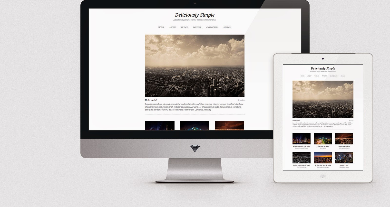 Download The Deliciously Simple - Free Responsive Wordpress Portfolio Themes 2015