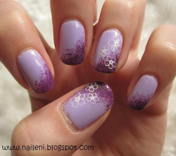 Nails reloaded by naileni nageldesign blumen auf lila for Nageldesign tutorial