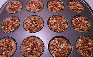 Topped Muffins in Baking Pan