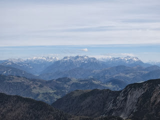 Gipfelblick auf Berchtesgadener Alpen und Steinberge