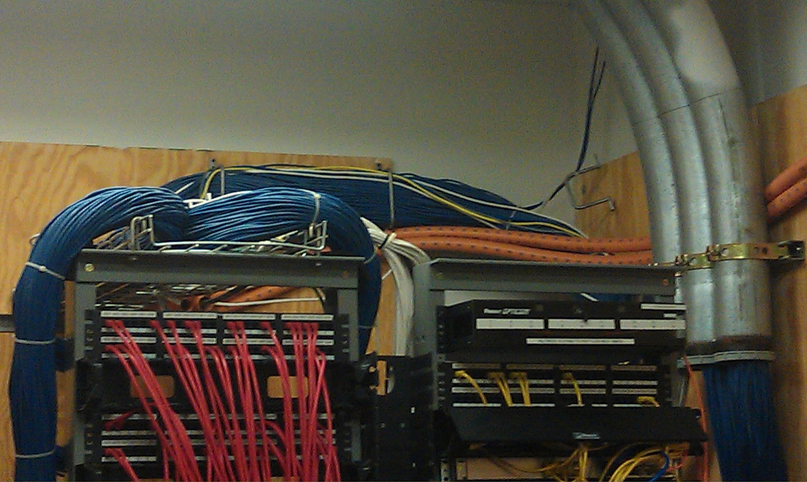 The News Of Network Tour Campus Wiring Closet Mess This Is A Set Pictures Different Closets I Must Say Am Envious Kens Skill To Divine Madness Which That Server Room