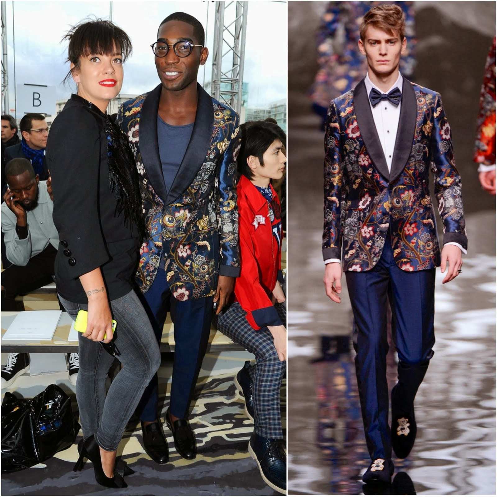 Tinie Tempah in Louis Vuitton - Louis Vuitton Fall Winter 2014, #PFW