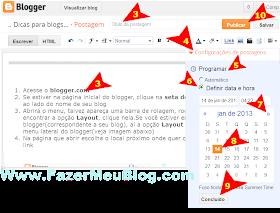 como fazer para agendar e postagens do blogger na nova interface atualizada e postar em data definida