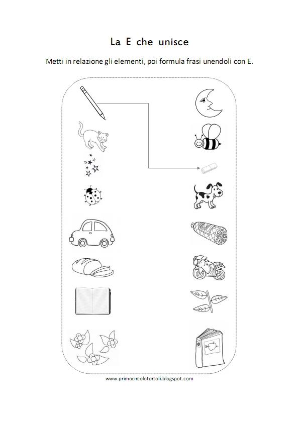 Preferenza Scuola di pensiero: Schede didattiche: e congiunzione, è verbo. BI67