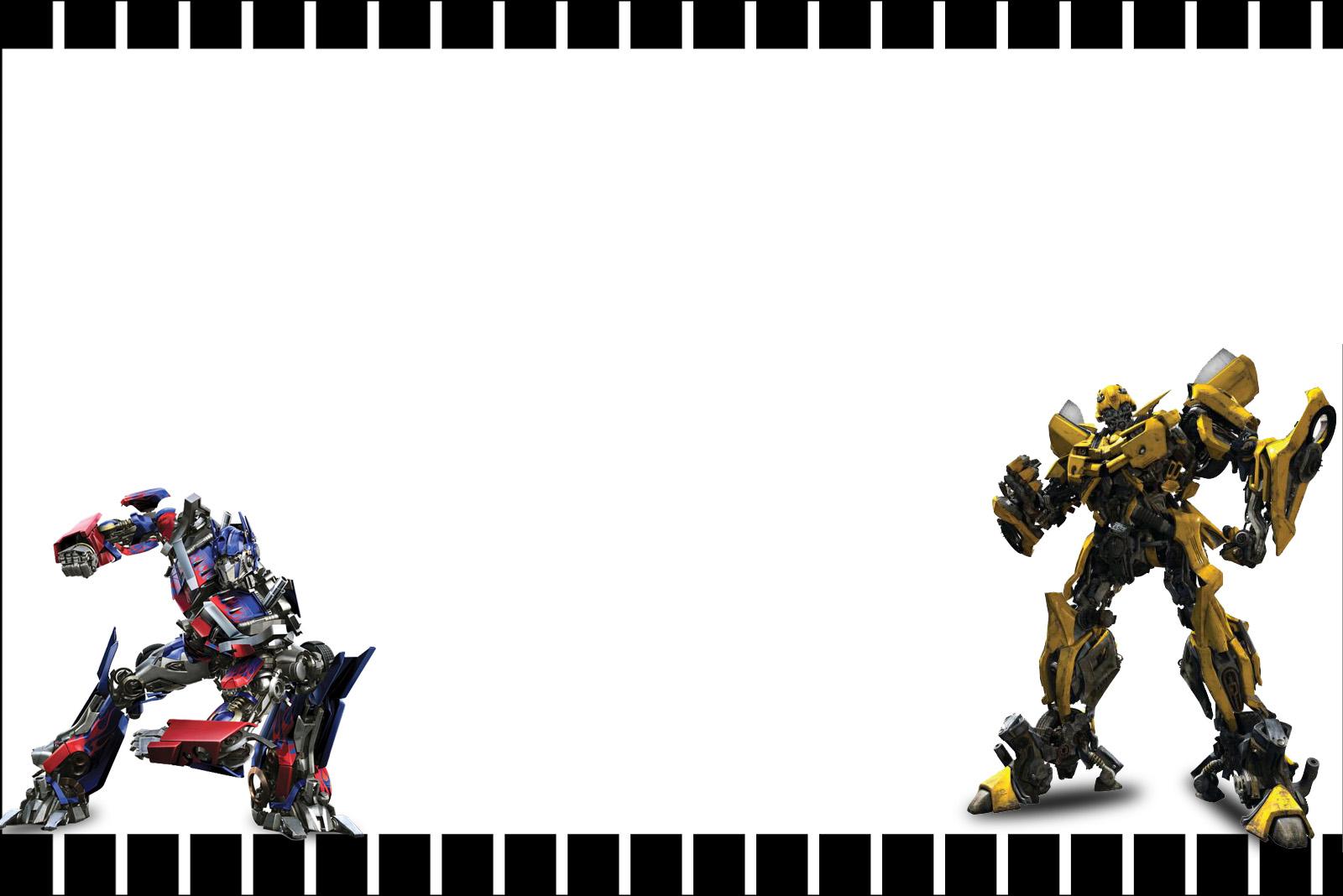 Transformers invitaciones para imprimir gratis  Ideas y material