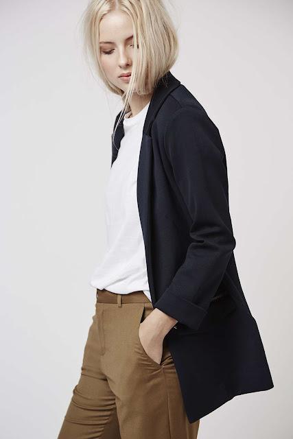 navy topshop blazer, navy jersey blazer, navy boyfriend jacket,