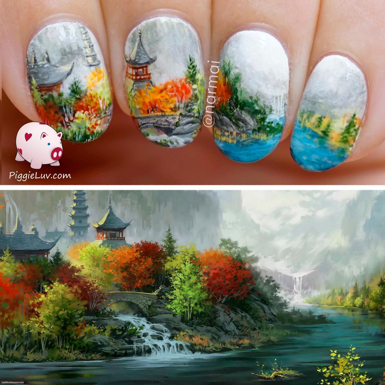 PiggieLuv: Japanese monastery nail art