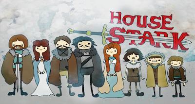 La familia Stark versión hora de aventuras - Juego de Tronos en los siete reinos