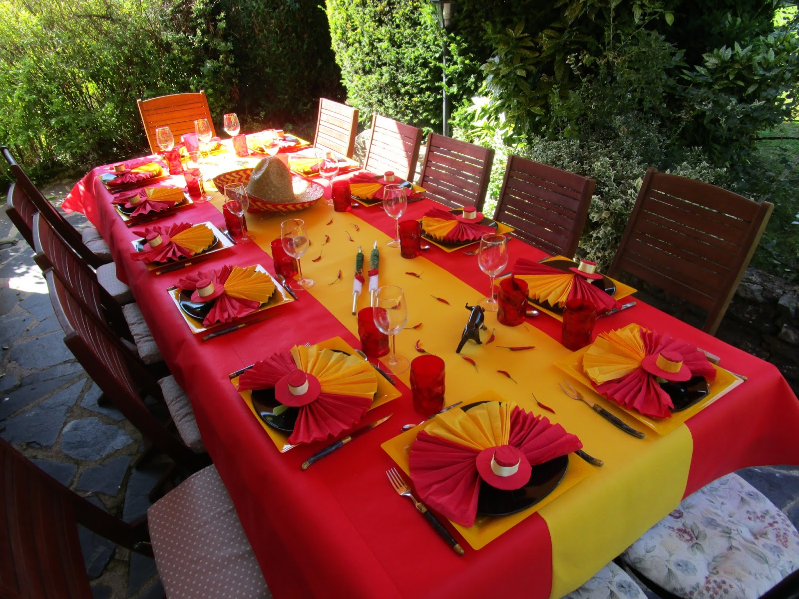 D co th mes d co de table espagnole for Photo de decoration