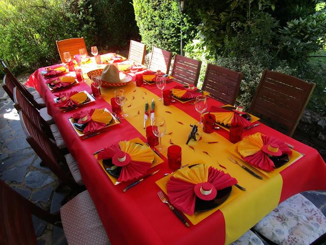 D co de table espagnole d co de table th mes for Deco piscine espagne