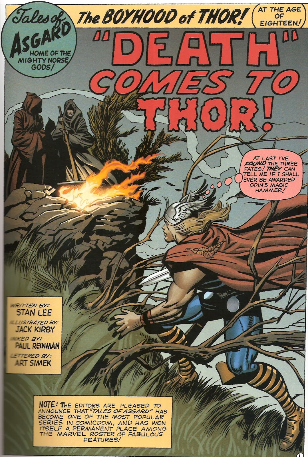 Bronze Age Babies: Tales of Asgard: Journey Into Mystery 102 and 103