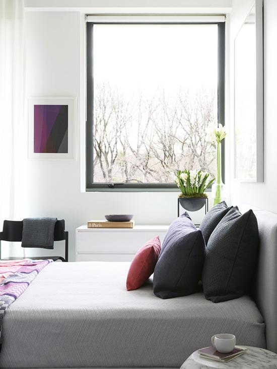 The fresh contemporary bedroom of Brooke Pertzel via The Design Files #bedroom