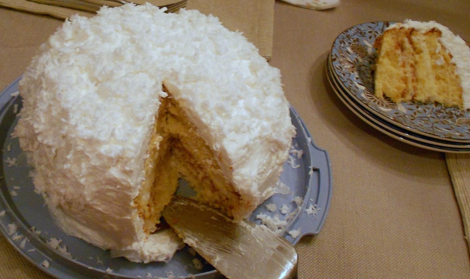 Yellow Coconut Cake Calories