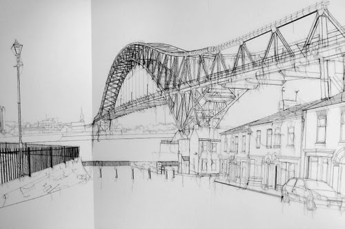 07-Jubilee-Bridge-Drawing-With-Thread-Textile-Artist-Debbie-Smyth-www-designstack-co