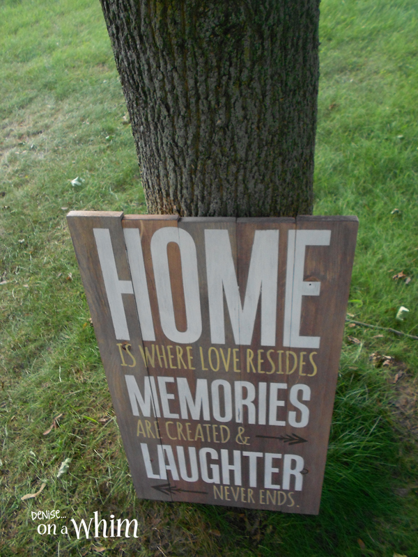 Rustic Wooden Lettered Home Decor from Denise on a Whim; Home is Where Love Resides