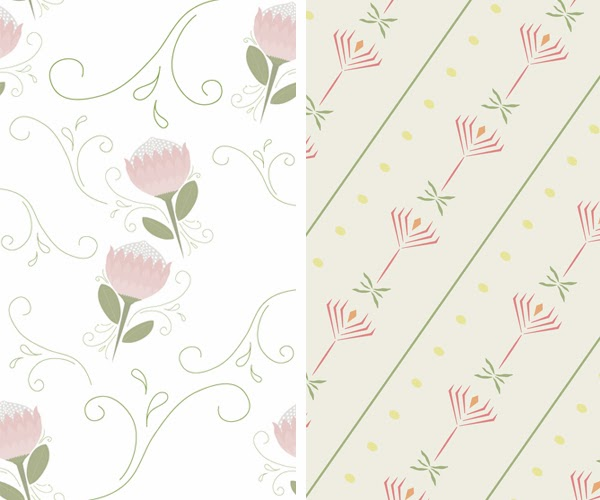 Happiness is... Custom Designed Protea Themed Scrapbooking Pack - protea patterns