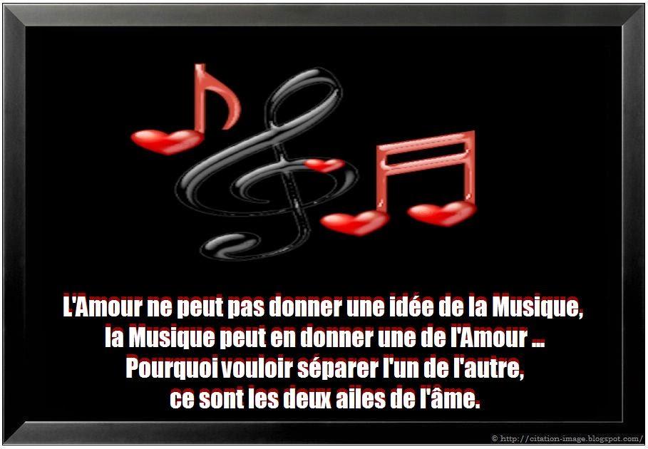 Citation sur la musique et l'amour ~ Citation en image : photo ...