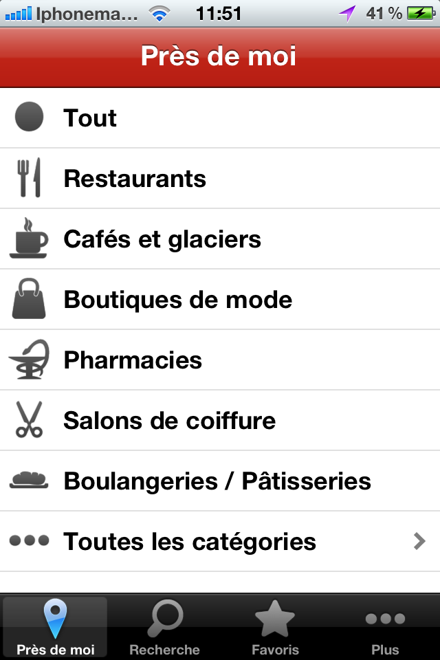 Application rencontres iphone