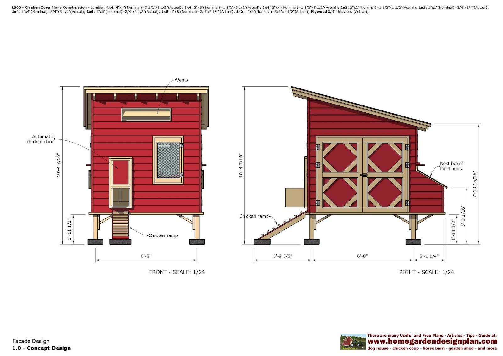 Home garden plans l300 chicken coop plans construction for Chicken coop for 8 10 chickens