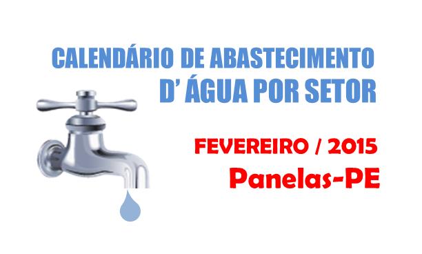 CALENDÁRIO DE ABASTECIMENTO D' ÁGUA POR SETOR