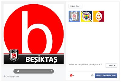 facebook gameface profil fotoğrafına resmine beşiktaş bjk takım kulüp logosu eklemek nasıl eklenir?