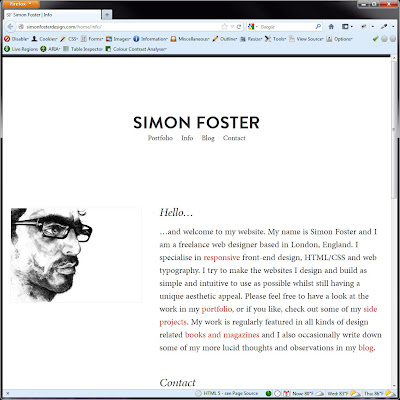 Screen shot of http://simonfosterdesign.com/home/info/.