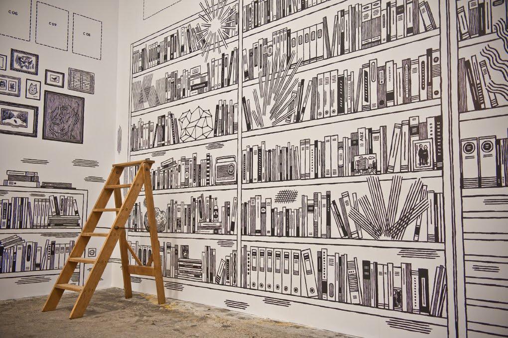 Exposition illustrateurs dessinateurs la maison commune site alstom nanc - Papier peint bande dessinee noir blanc ...