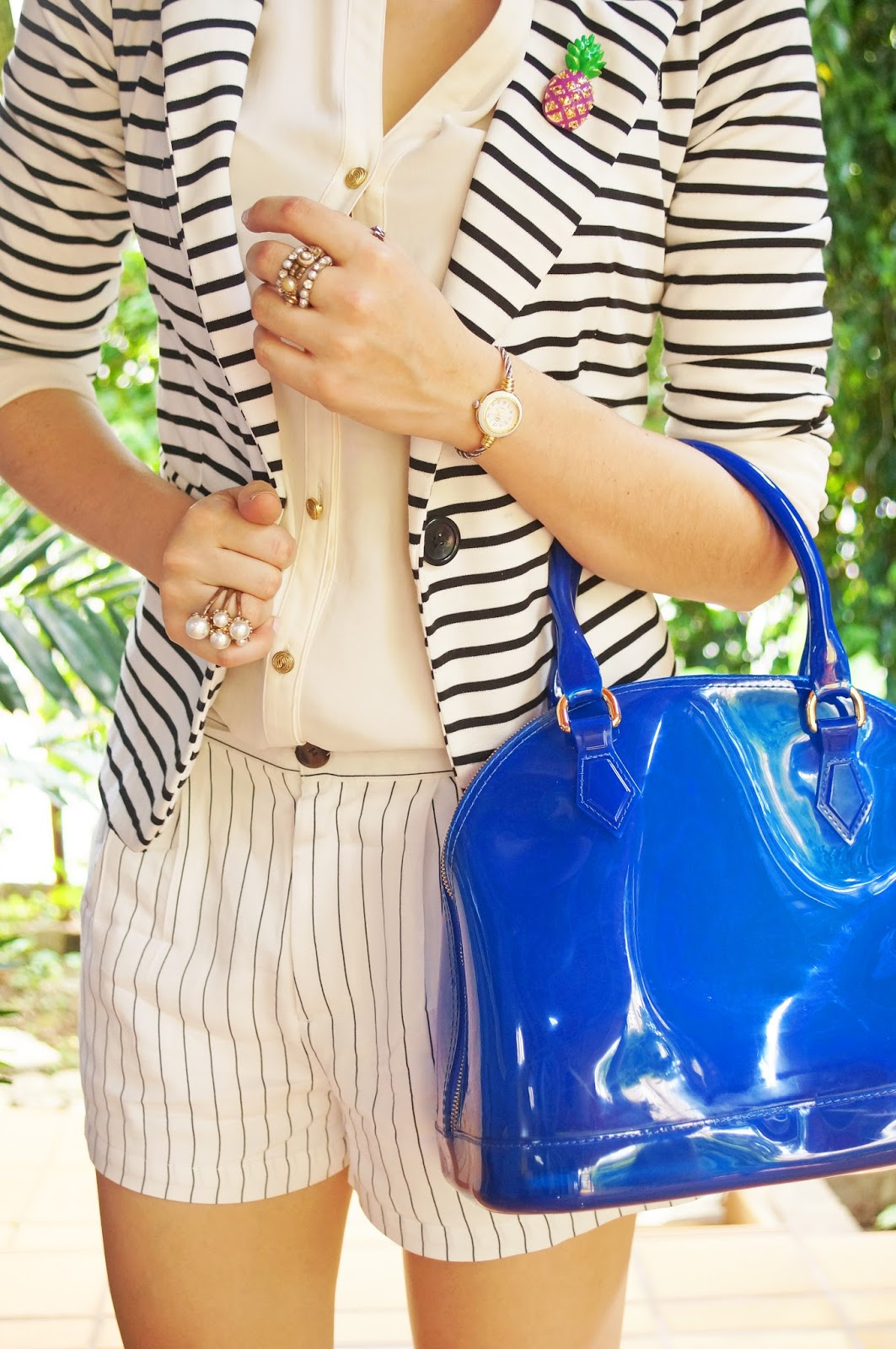 Stripes and Pineapples all in one outfit?! What could be better!