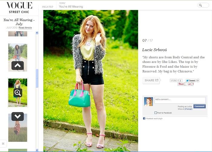 češka ve Vogue, módní blogerka, lucie srbová, sláva