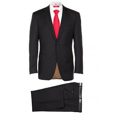 Louis Copeland Tailored Two Button Black Suit