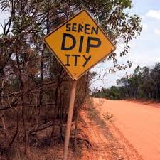 Serendipity road sign