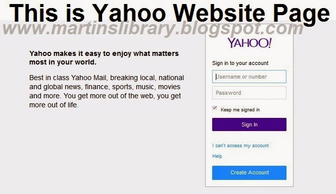 YAHOO MAIL REGISTRATION GUIDE