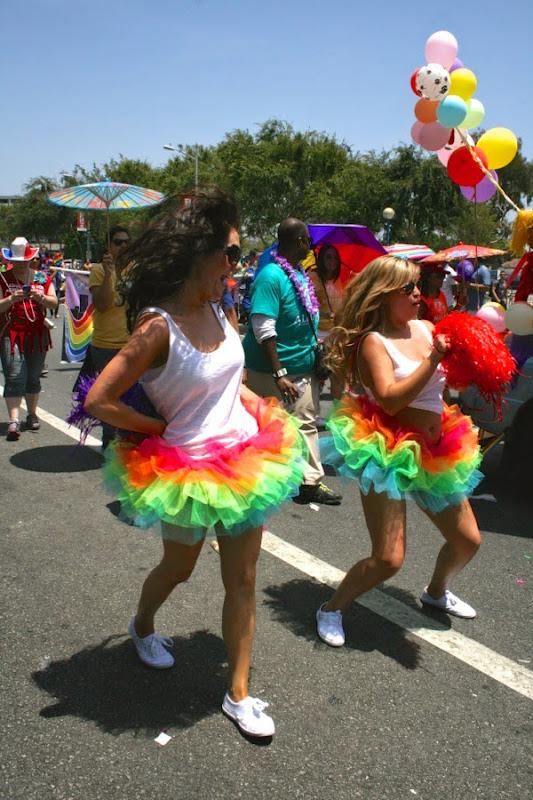 Rainbow tutu dancers West Hollywood Pride Parade 2014