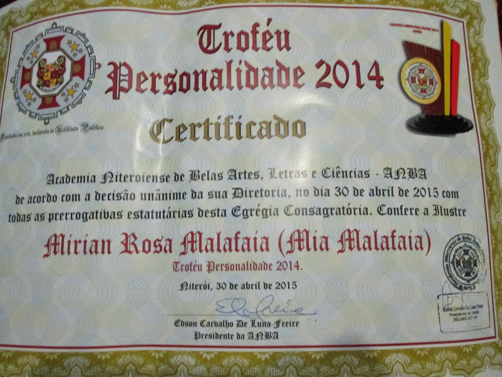 Personalidade 2014!